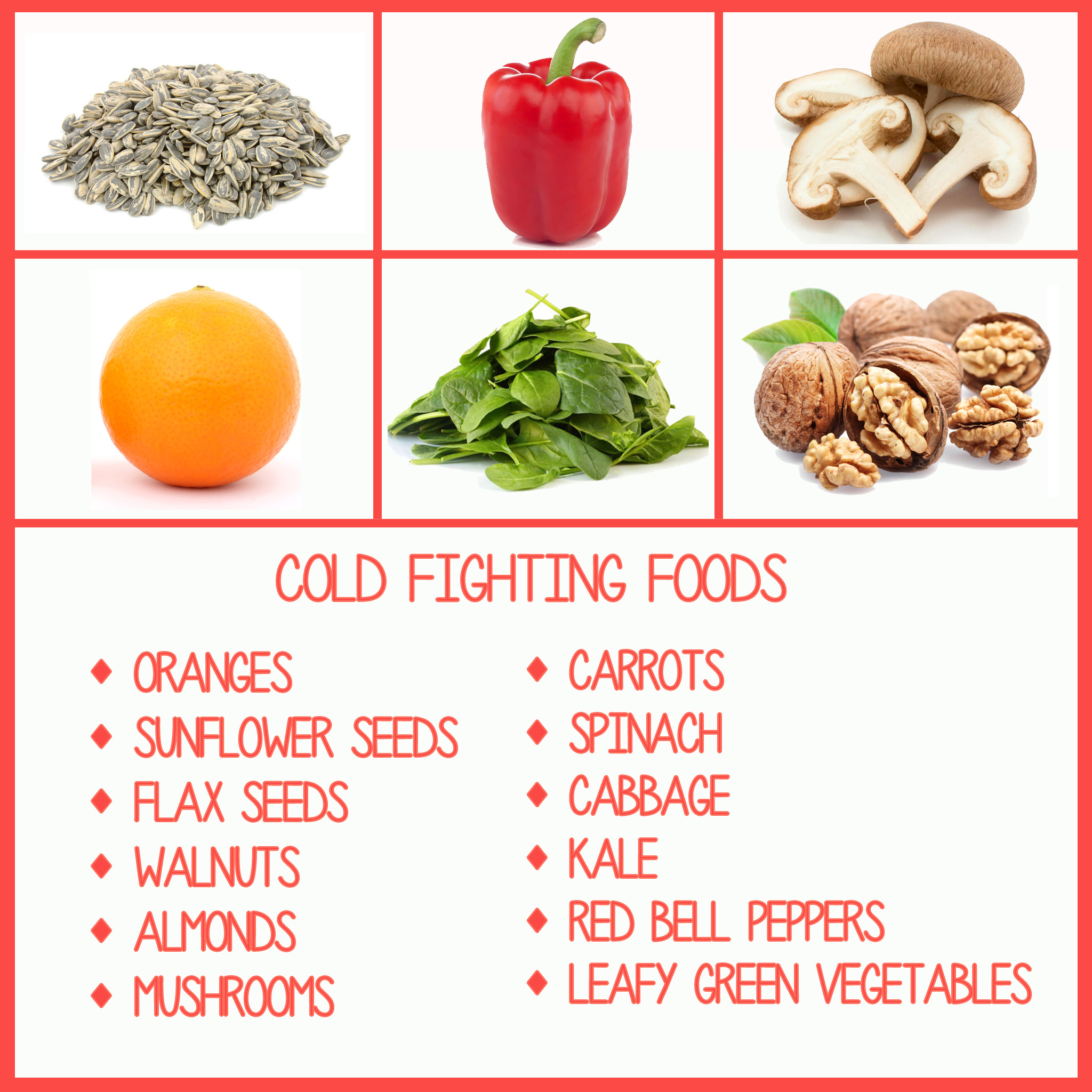 Nutrition tip! Feel a cold coming on?