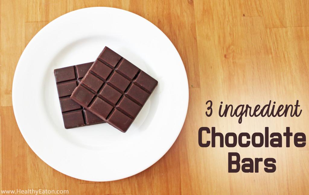 3 ingredient chocolate bar
