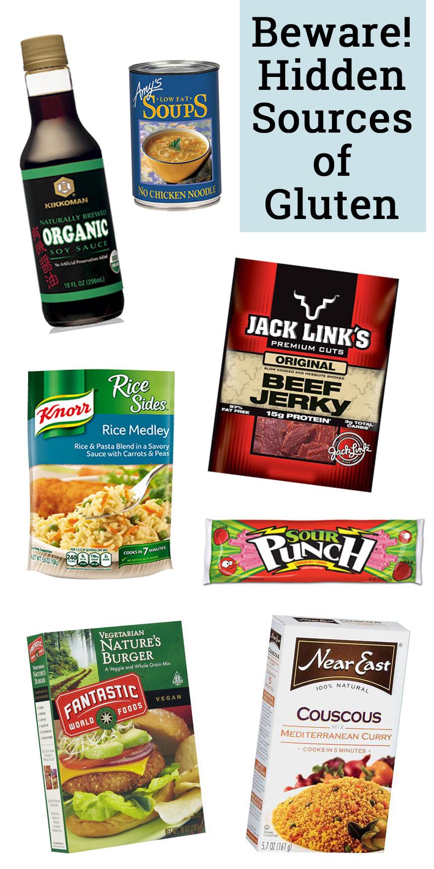 hidden sources of gluten