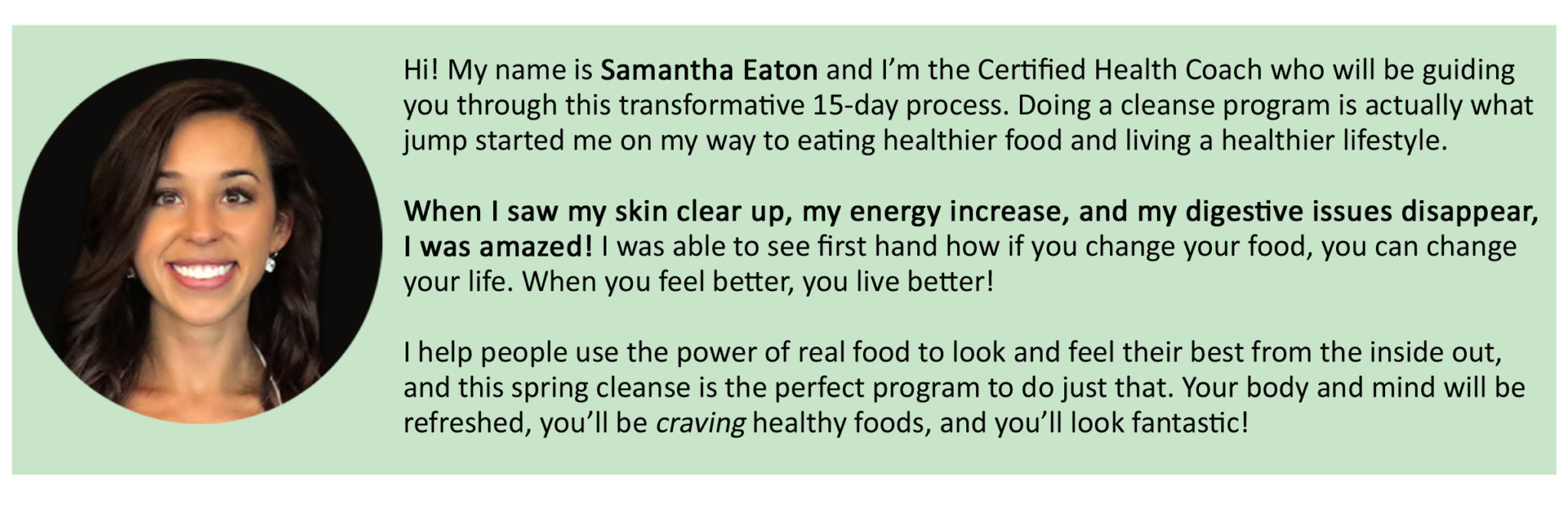 fall cleanse samantha eaton bio