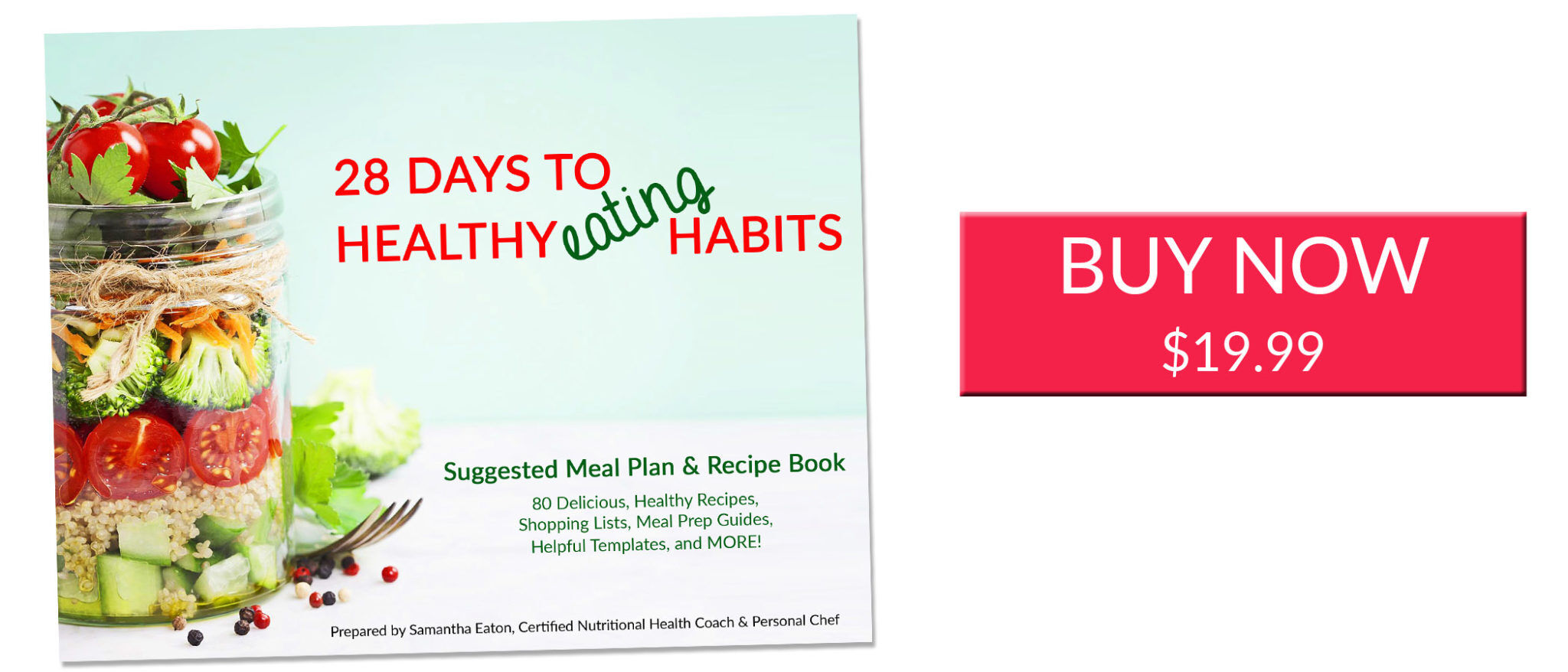 28 days to healthier eating habits recipe book buy now