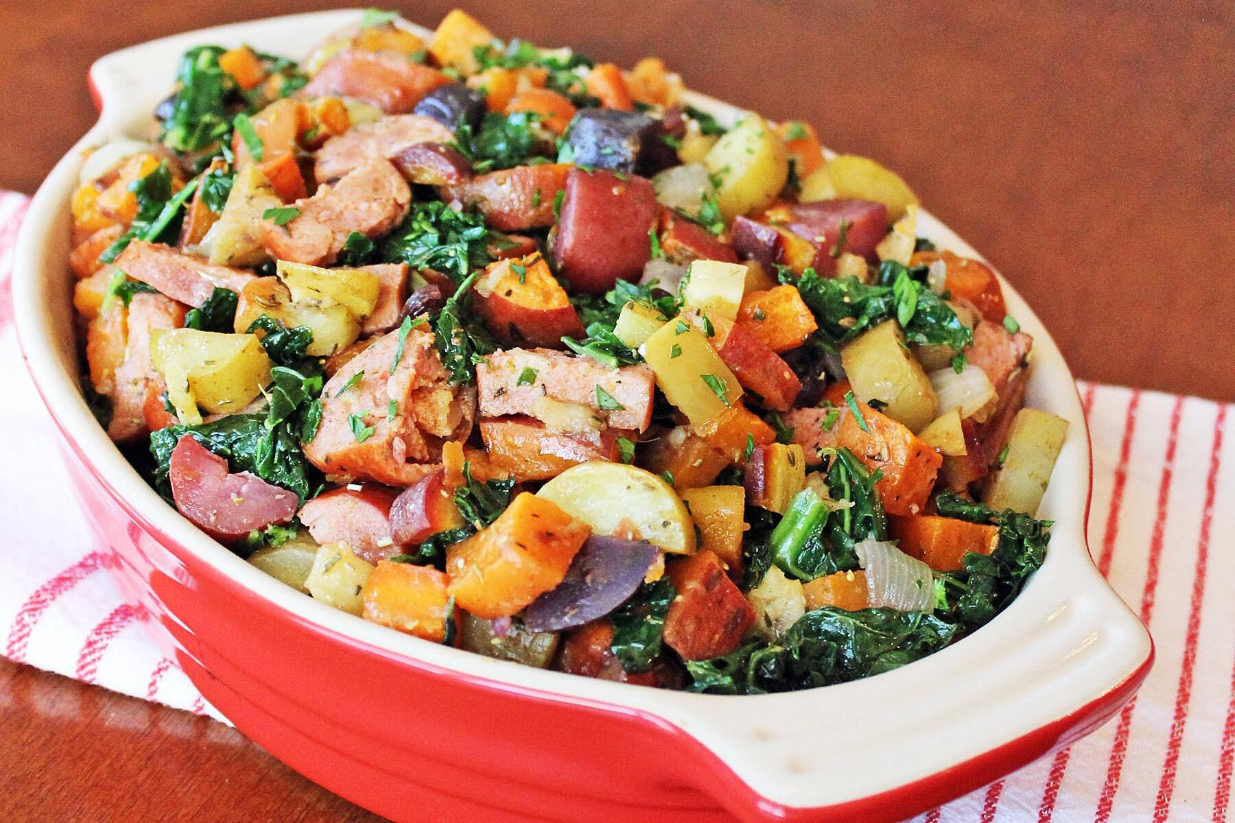 roasted vegetable and sausage medley recipe