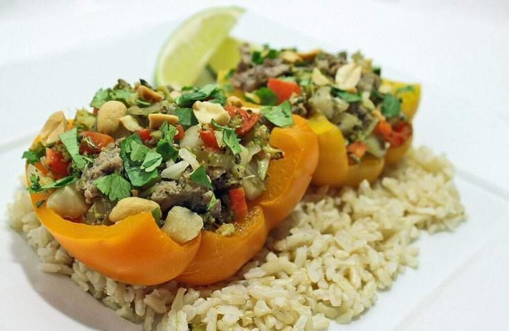 Stuffed Bell Peppers - Asian (Gluten & Soy Free)